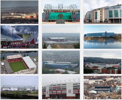 collage of stadiums