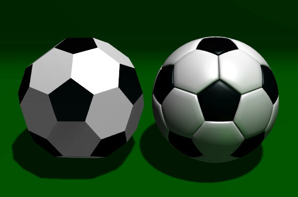 Hexagonal Football Design