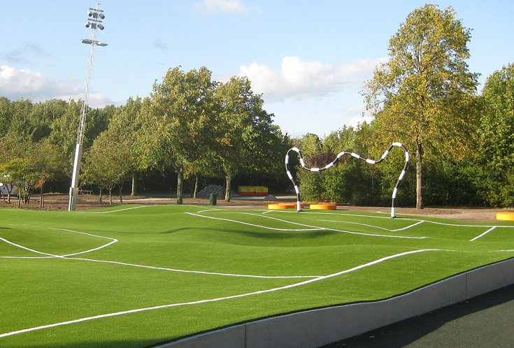 funny football pitch