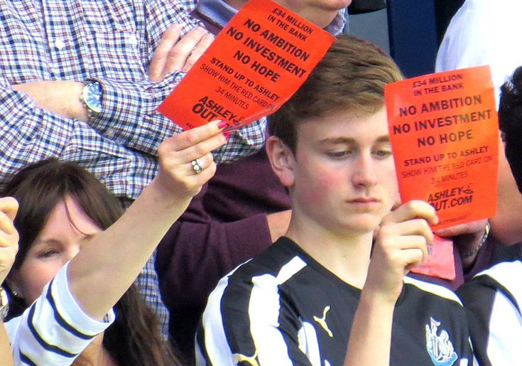 Mike Ashley Owner Protests at Newcastle FC