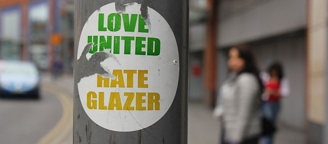 Glazer's, owners of Man United, not loved by all