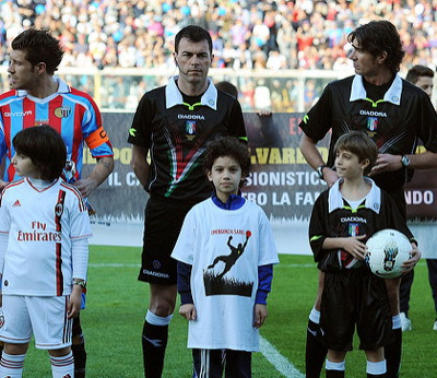 Child mascots at 2012 European Match Day Against Hunger