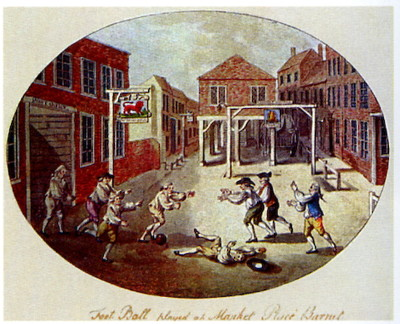 football match in 1750