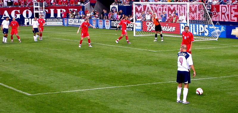 direct free kick on the edge of the penalty area