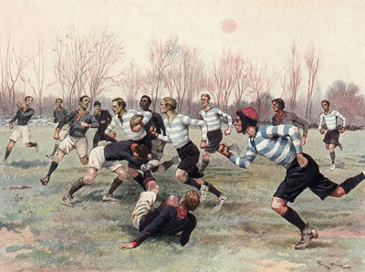 early rugby match