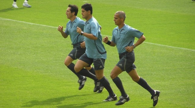 Referees Warming Up