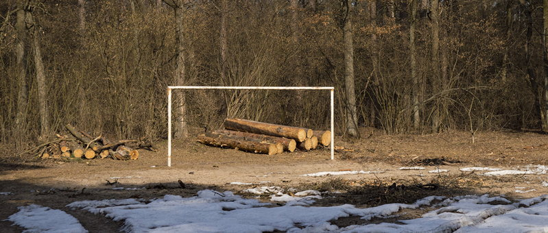football goal in remote location