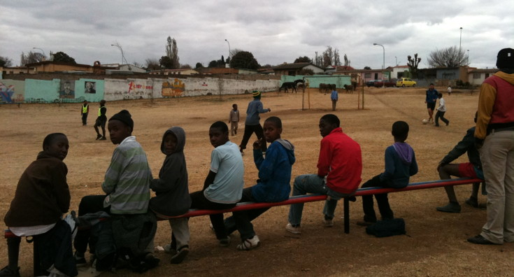 Substitutes bench in Soweto