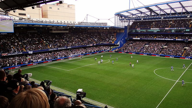 TV Cameras at a chelsea match