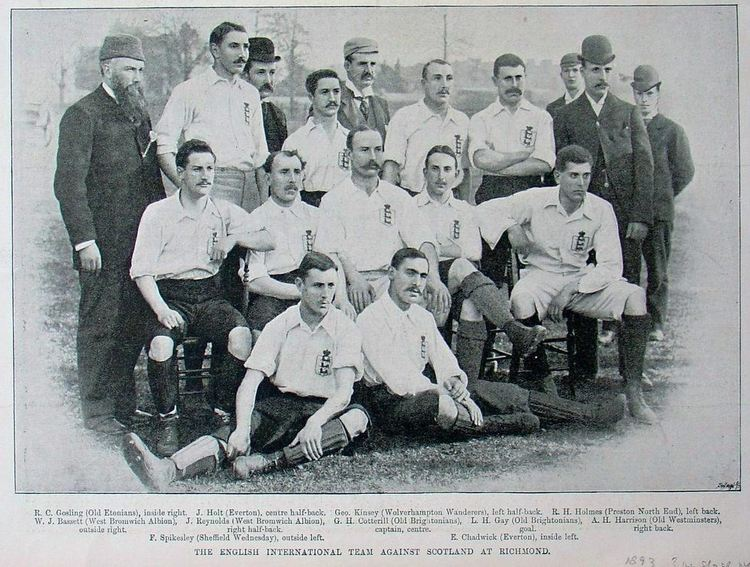England National Team vs Scotland 1893