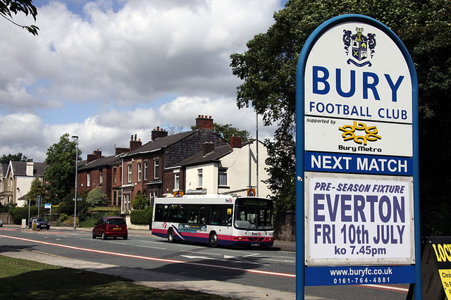 bury fc sign and fixture