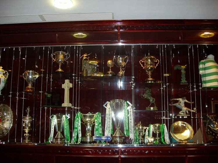 Trophy cabinet at Celtic