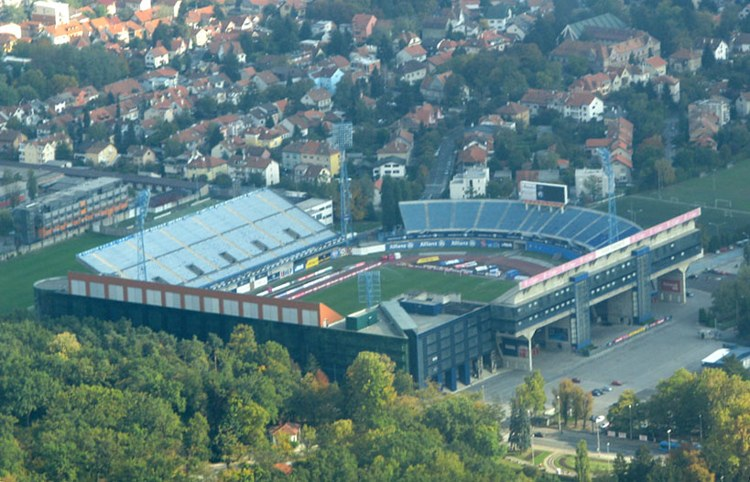 Stadion Maksimir the stadium with wings