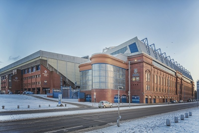 Ibrox in Snow