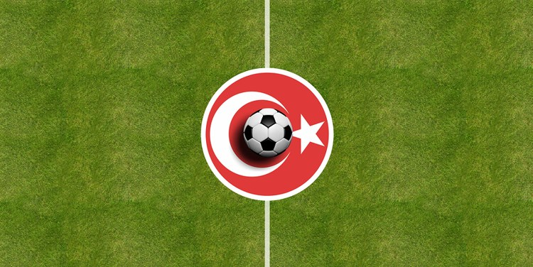 Turkey Flag on Football Pitch