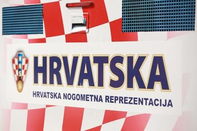 Croatian Football Association Logo on Bus
