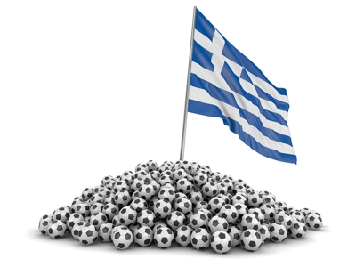 Football Greece Flag