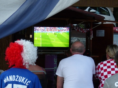 Croatians Watch Football on Day of Independence