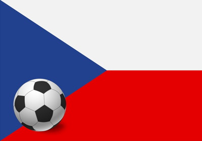 czech flag with football