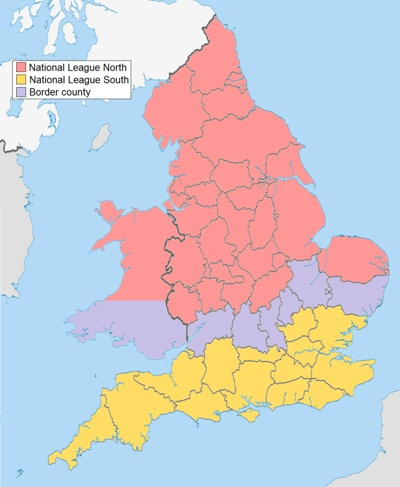 National League North and South Territories