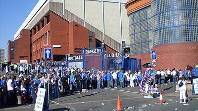 Rangers Fans Queue
