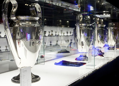 Barcelona Four Champions League Trophies