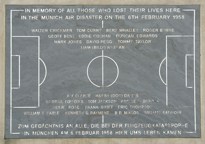 memorial stone in remembrance of the Munich air disaster