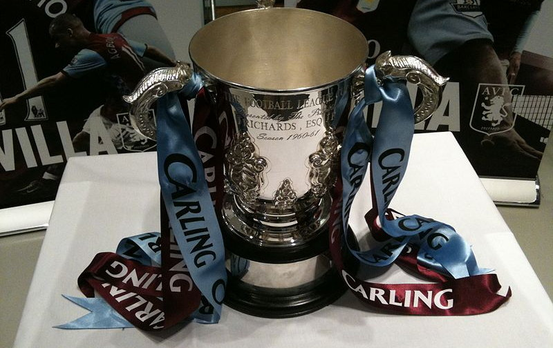 League Cup in Aston Villa colours