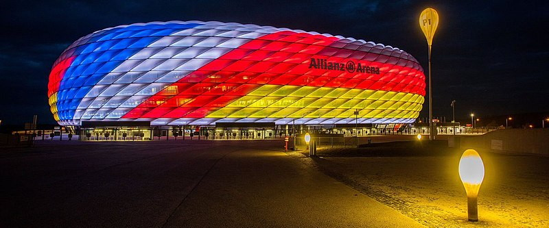 Allianz Arena Illuminated During the UEFA Nations league 2018-19 Group stage. Germany vs France