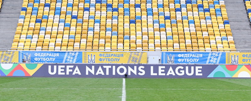 nations league banner on the sidelines