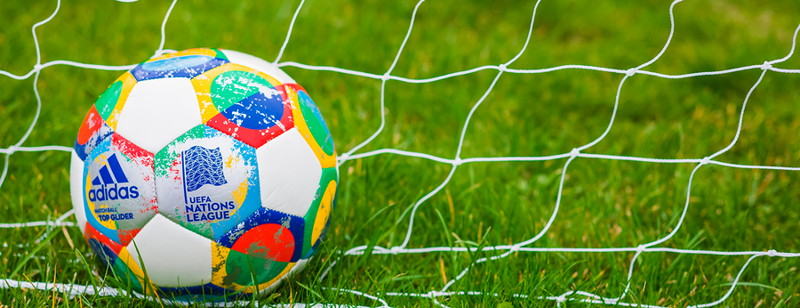 nations league football in a net