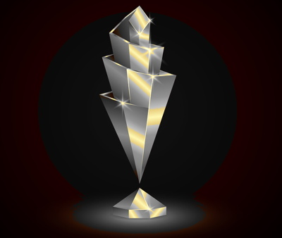 nations league trophy abstract
