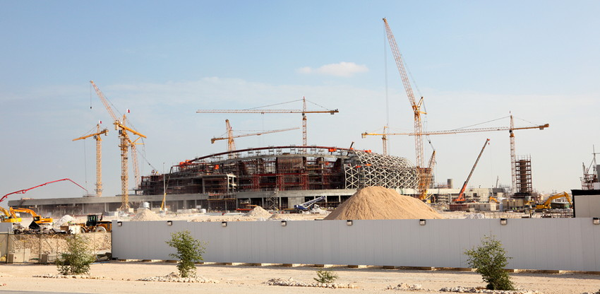 qatar stadium under construction